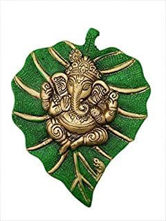 Trendy Crafts Metal Lord Ganesha On Leaf, Wall Hanging Article for Wall Decor, Room Decor, Best for Housewarming, Wedding ...
