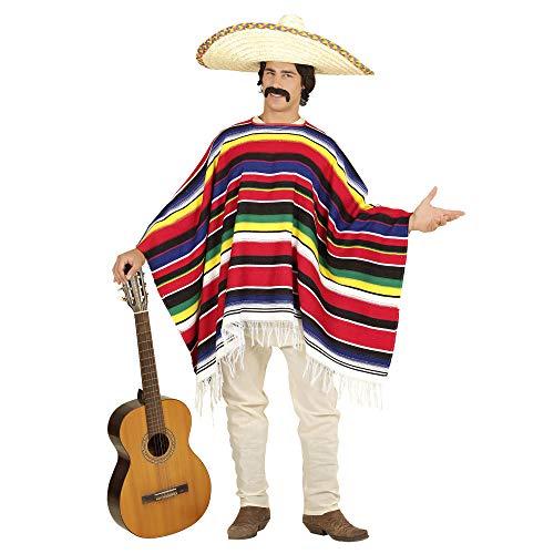 Widmann 75722 Authentischer mexikanischer Poncho, Herren, Bunt, Einheitsgröße