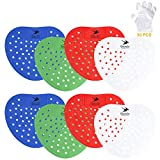 Flying swallow Urinal Screens, Splash Mats, Fits Most Top Urinal Brands & Waterless with 15 pair Disposable gloves,4 Colors 8 Pieces (Big hole)