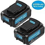 DEWALT 20V MAX XR Battery, 4.0-Ah, 2-Pack...