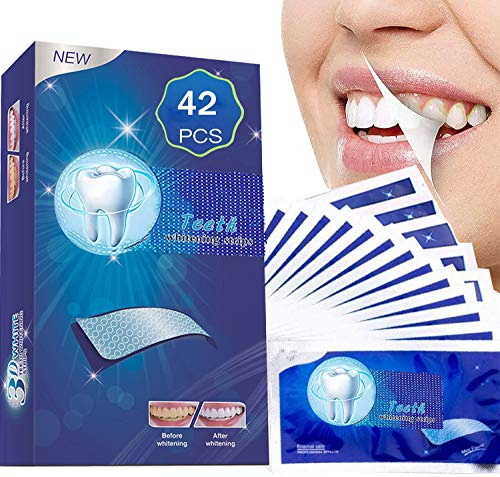 Teeth Whitening Strips, Professional Teeth Whitener Strips, No Sensitive Enamel Safe for Teeth Whitening, Effective Teeth Whitening Strips for Home Use (42pcs)