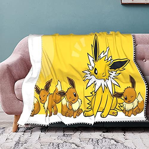 Pokémon Couverture polaire TV avec manches et poches pour pieds, grande couverture enveloppante pour homme et femme 125 x 150 cm