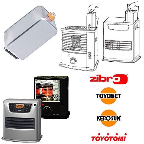 Zibro Serbatoio 7,6L mod.  L  per stufe Zibro|Toyotomi mod LC-135, LC-400, LC-SL530, LC-40 (type A), LC-140, LC-150