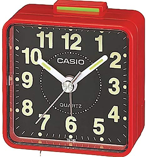 Casio Collection Despetador TQ140, Resina, Rojo