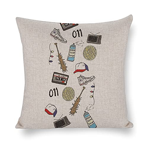 DKISEE Funda de almohada decorativa con dibujos de Stranger Things para habitación, sofá, silla, coche, 50,8 x 50,8 cm