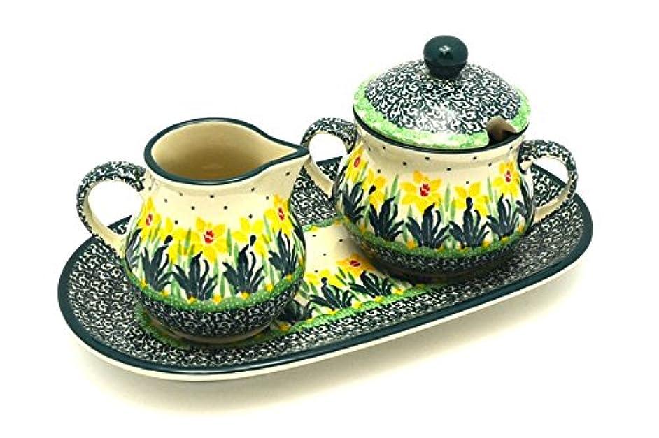 Polish Pottery Cream & Sugar Set - Daffodil