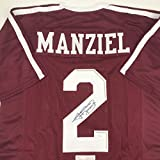 Autographed/Signed Johnny Manziel Texas A&M Maroon College Football Jersey JSA COA