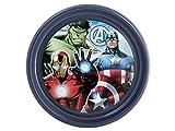 Lulabi Marvel Avengers - Plato llano, plástico rígido, 21,5 cm, azul