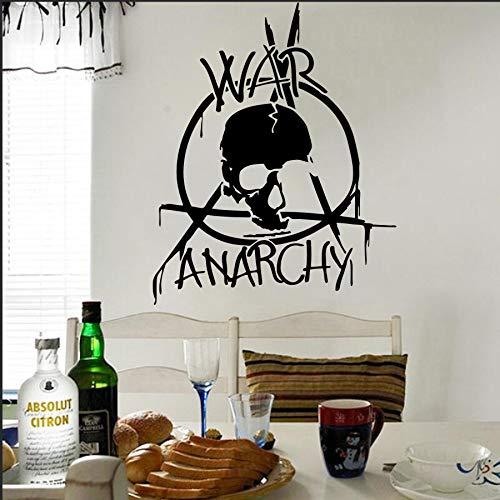 HNXDPKrieg Anarchie Wandbild Krieg Logo Aufkleber Military Wohnzimmer Kunst DecorativeVinyl Wandtattoos 59x73 cm Y50 5 STÜCKE