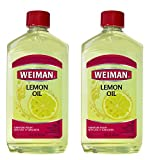 Weiman Lemon Oil Wood Polish (2 Pack) 16 Ounce - Ultra Violet Protection, Gently Cleans, Protects,...