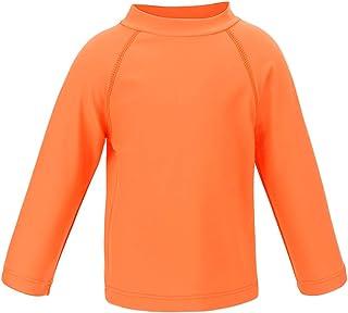 LACOFIA Boys' Long Sleeve Swim Tops Kids Rash Vest Swimming Shirt Children Rash Guard UPF 50+ Sun Protection Quick Drying