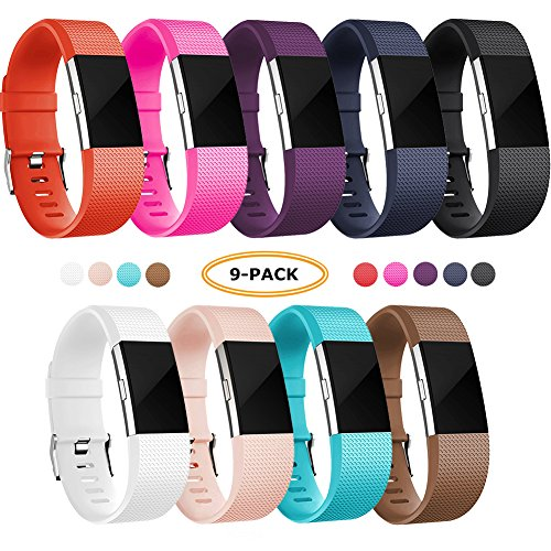 FatcatBand Fitbit Charge 2 Armband, Klassisch Verstellbares Ersatz weiches Silikon Sporty Wrist Strap Band Armbanduhr Uhrenarmband Schlaufe Armbänder für Fitbit Charge 2 Smartwatch