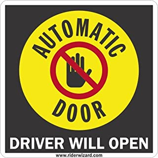 driver operated door stickers