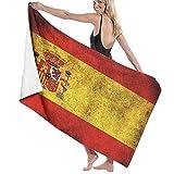 Toallas de baño Paños de Lavado para el hogar, Hotel, SPA, salón de Piscina - Toallas de Bandera Vintage de España, Ducha Suave y Absorbente Toalla de baño Toalla de baño Extra Grande 32x52 Pulgadas