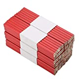 Lápices de Carpintero Lápiz de Carpintero Octogonal Herramienta de Marcado de carpintería Lápiz de Carpintero de Plomo Octagonal Rojo Duro Negro - 72 Piezas 175 mm