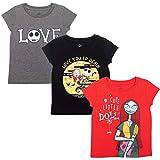 Disney Nightmare Before Christmas Jack Skellington Sally Toddler Girls 3 Pack T-Shirt 4T