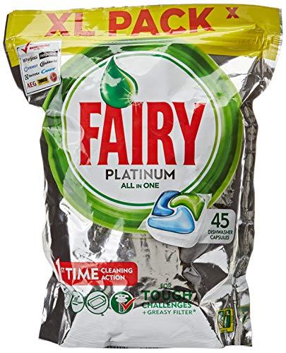 Fairy Platinum Normal Cápsulas de Lavavajillas, 45 Cápsulas