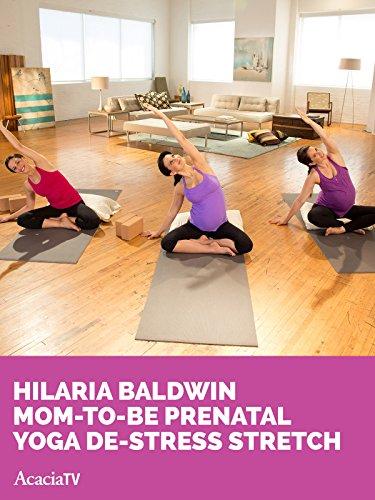 Hilaria Baldwin Mom-to-be Prenatal Yoga De-stress Stretch