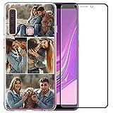 Coque de téléphone compatible avec Samsung Galaxy A9 2018 (Clear Layuot 4 images)