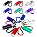 PROLOSO 15 Pcs Flashlights Keychain Portable Led Flashlight Keyring Toy Key Chains for Camping Climbing Kids Party Favors