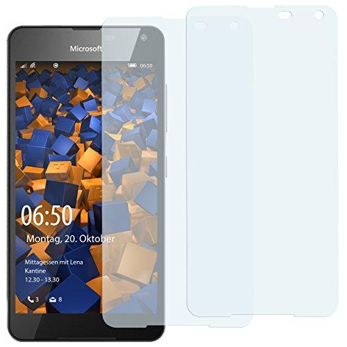 mumbi Schutzfolie kompatibel mit Microsoft Lumia 650 Folie klar, Bildschirmschutzfolie (2X)