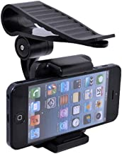 Geekercity Car Mount Cell Phone Holder Universal 360 Rotating Car Sun Visor Mount Support Clip Bracket for GPS Smartphones [35-90mm]