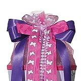 ROTH Schultütenschleife Purple Rain - fertig gebunden ca. 50 x 23 cm - Schulanfang-Schleife