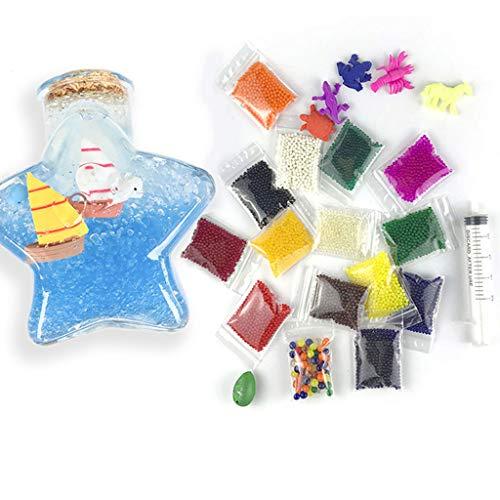 8400pcs Pfirsich-Herz-Flaschen-Wasser-Absorbing Perlen, 14 mittlere Farben, 600pcs jeder, Flashing Wasser bördelt Kristallboden Wasser-Korn-Gel, Blumenvase Fill