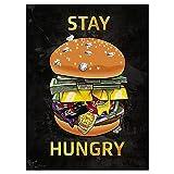 Graffiti Art Hamburger Canvas Painting Carteles abstractos e impresiones Imágenes artísticas de pared Imagen para la decoración de la pared de la sala de estar-50x70cm Sin marco