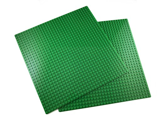 Apostrophe Games Classic Building Block Base Plates Compatible with All Major Brands (2X Green)