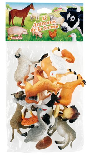 Cofalu Kim'Play - Figurine - Animal - 12 X Animaux De Ferme