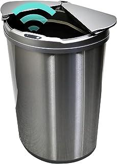 ゴミ箱 47L 自動開閉ゴミ箱 自動センサー 大容量 コンパクト おしゃれ ひらけゴミ箱 直接触れない 衛生的 捨てやすい ゴミ袋リングつき お手入れ楽々 スリム 安心メーカー保証1年付き シルバー MAXZEN JG047MT01-SV