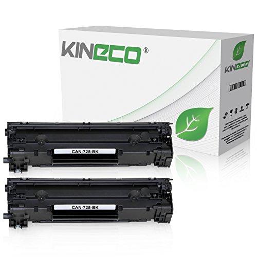 2 Toner kompatibel mit Canon 725 für Canon I-sensy LBP-6000, LBP-6020, LBP-6030, MF-3010-3484B002 - Schwarz je 2.100 Seiten