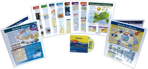 NewPath Learning 10 Piece Mastering Middle School Life Science Visual Learning Guides Set, Grade 5-9
