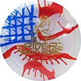 Latitude 64 MyDye American Flag Disc Golf Discs | Maximum Distance Drivers | Stable Midrange | Frisbee Golf Discs | 170g Plus | Stamp Color Will Vary (Hybrid River)