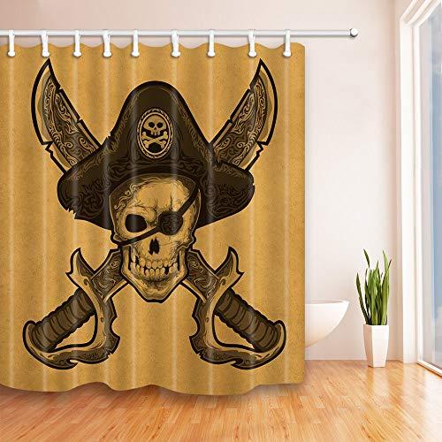 Retro Duschvorhang Pfeil Muster Horizontaler Druck für Badezimmer