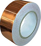 Copper Foil Tape with Conductive Adhesive (1inch X 12yards) - EMI Shielding, Stained Glass, Paper Circuits, Electrical Repairs, Soldering - Extra Long Value Pack at A Great Price