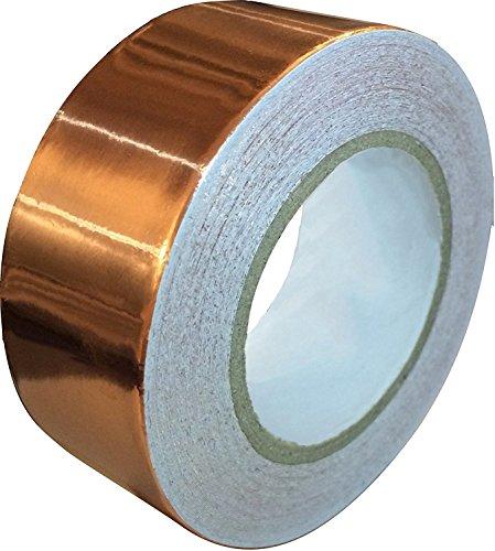 Koperen plakband met geleidende lijm 11 m x 25 mm - koper slakkenband tegen slakken, EMI afschermband, elektrische reparatieband, voor glasverf & papieren schakelingen - extra lange koperband