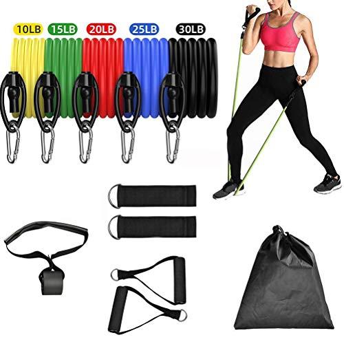 NEWMAN771Her - Conjunto de 11 bandas de resistencia para fitness, entrenamiento de fuerza muscular