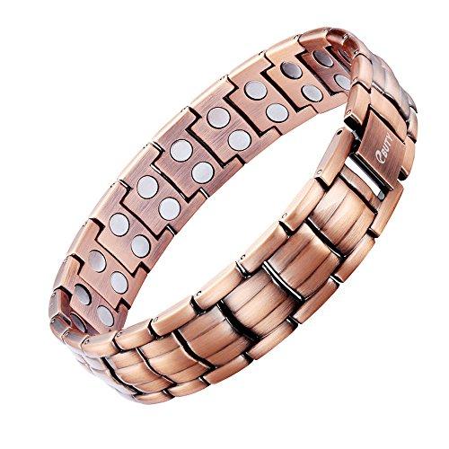 Bracelet en cuivre pur magnétique pour homme