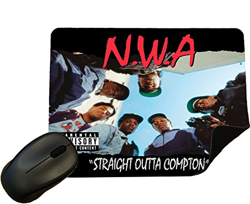 NWA Straight Outta Compton Album Cover Mouse Mat/Pad - by Eclipse Gift Ideas