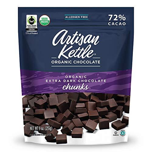 Artisan Kettle Organic Extra Dark Chocolate Chunks, 9 Oz