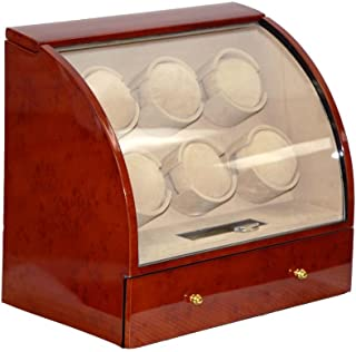 Six Automatic Watch Winder for 6 Watches (Dark Brown) Q600DB