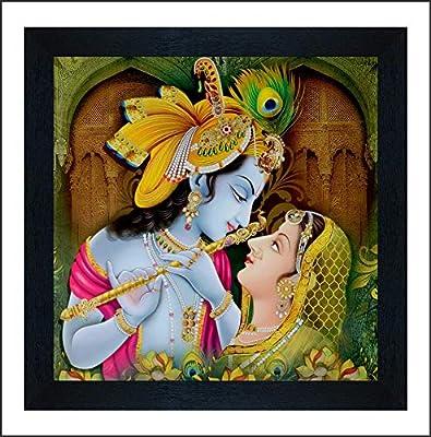 SAF Radha Krishna UV Coated Multi-Effect Digital Reprint Painting 12 inch X 12 inch SANF21059