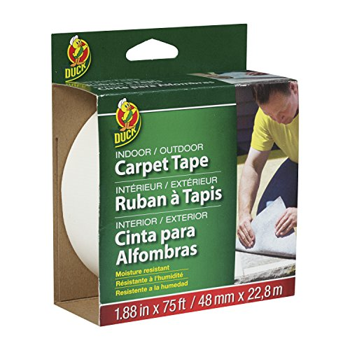 Duck Brand 442062 Indoor/Outdoor Carpet Tape, 1.88-Inch x 75 Feet, Single Roll,White