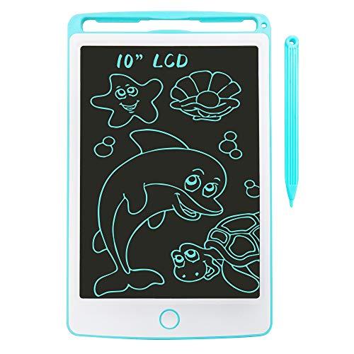 Richgv 10 Pulgadas Tableta Gráfica, Tablets de Escritura LCD, Portátil Tableta de Dibujo Adecuada para Niños, Juguetes Electrónicos para Dibujar y Aprender (Azul)