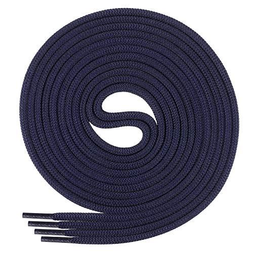 Di Ficchiano Schnürsenkel, Rundsenkel für Business- und Lederschuhe, reißfester Allroundsenkel, ø 3mm Farbe dunkelblau Länge 80cm