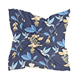 Linomo Bufanda de seda de gasa para mujer con flores florales, colibrí cuadrado, chal de seda como bufanda