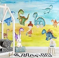 カスタム3D壁紙壁画漫画恐竜イラスト子供部屋の背景壁のリビングルームの寝室の装飾-250 * 175Cm