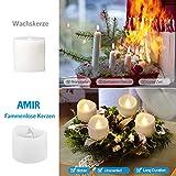 AMIR LED Kerzen, 12 LED Flammenlose Kerzen, Weihnachten LED Teelichter, Elektrische Teelichter Kerzen für Halloween, Weihnachten, Party, Bar, Hochzeit (Flicker Gelb) - 6
